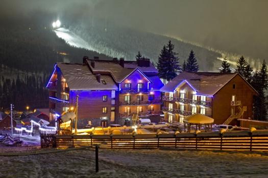 Hotel Villa Helena near famous Ukrainian ski resort Bukovel
